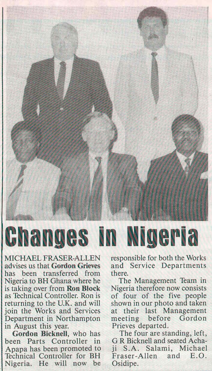 NIGERIA 1986