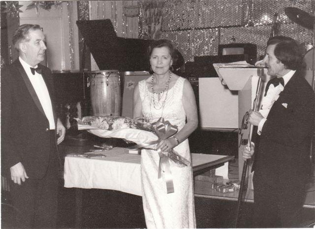 THE SALON. Bill, Mary, MC, not 1975