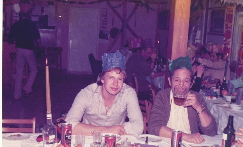 Nick Rose & Harvey Matthews 345 Club Iraq Christmas 1978