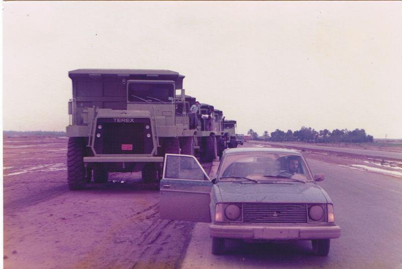 Nick Rose Keith Warrander Roading Terex 33-07 from Basrah to Baghdad 1979