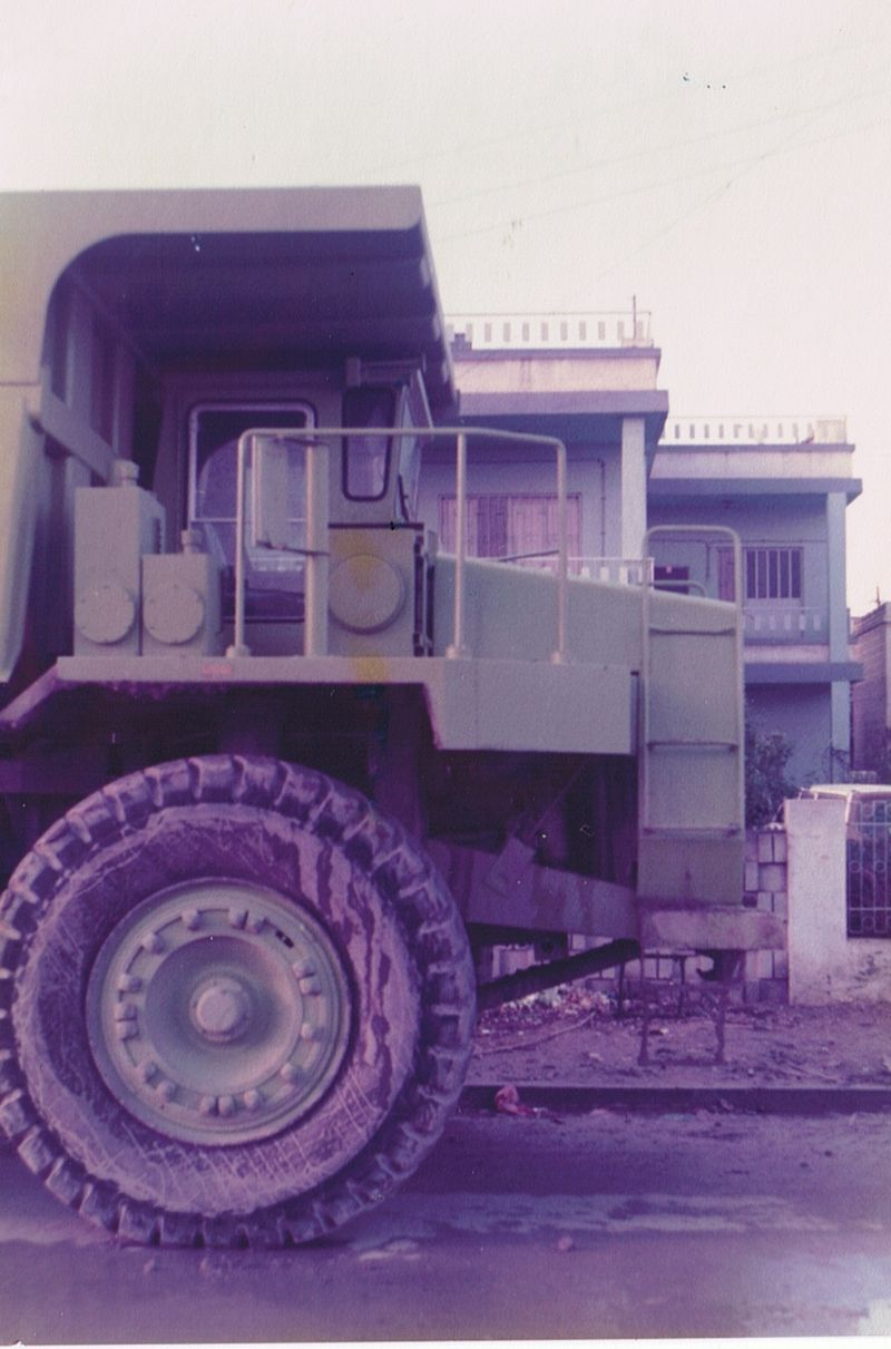 Terex 330-07 outside Gatewood Engineers House in Iraq in 1979