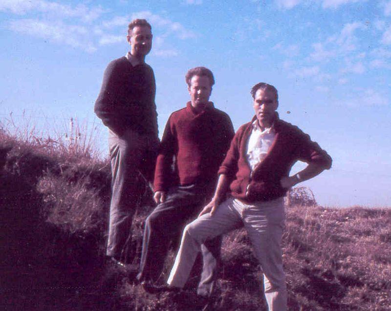 AB, Cec, Bill McLean, Xmas 1962