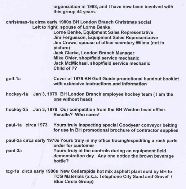 Blackwood Hodge Memories More From Paul Mylemans Bh Canada 1966 1984